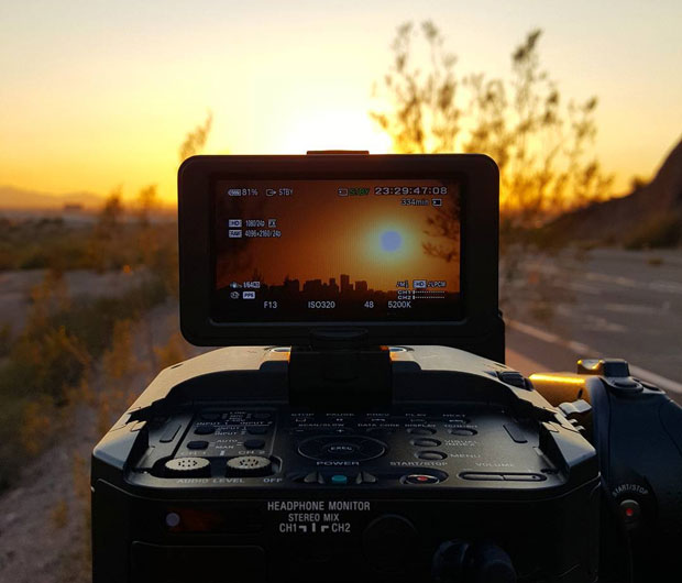 Phoenix Sunset Captured on Video
