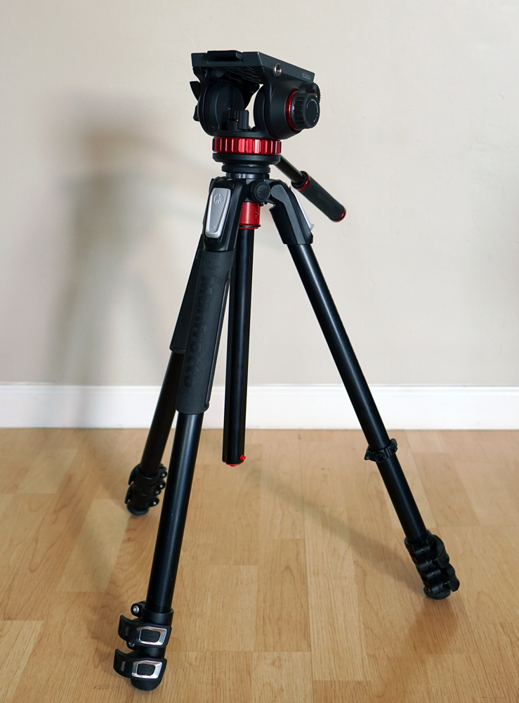 Manfrotto 055 Aluminium 3 Section Tripod