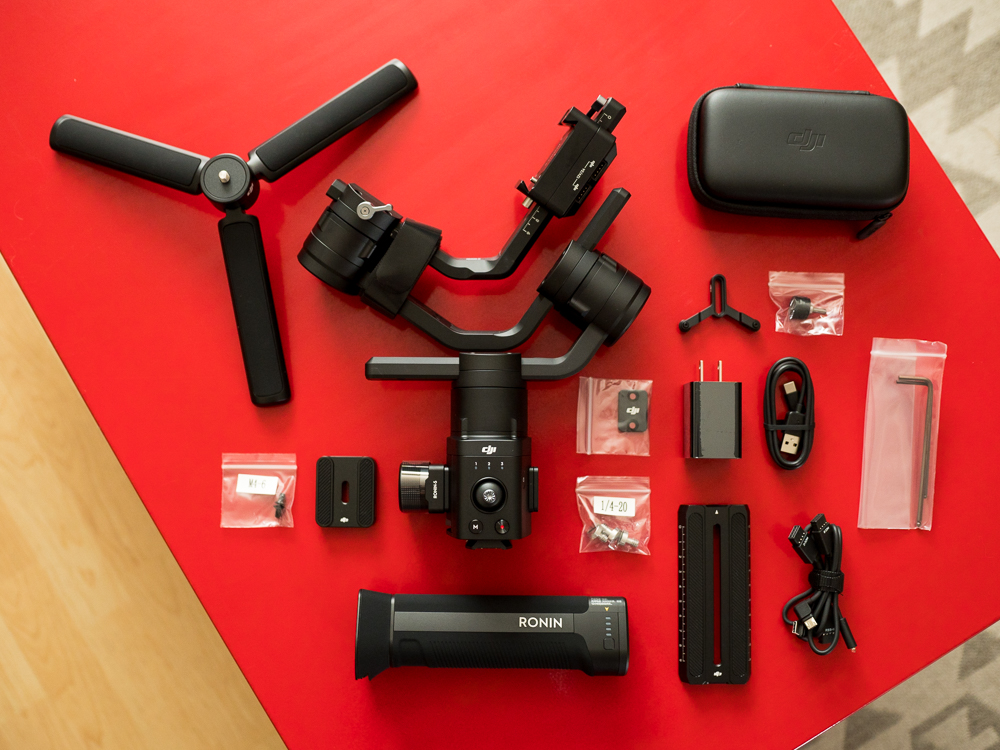 DJI Ronin-S package contents