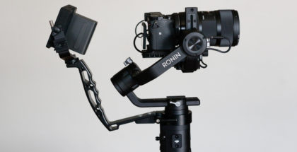 AgimbalGear Handy Sling Grip with Ronin-S carrying Sony a6500 with Sigma 18-35mm lens and SmallHD Focus monitor