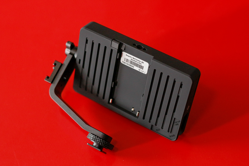 "SmallHD 5"" Focus Monitor back and battery slot"